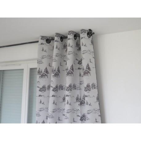 rideaux pr t a poser st bernard gris sur fond blanc. Black Bedroom Furniture Sets. Home Design Ideas