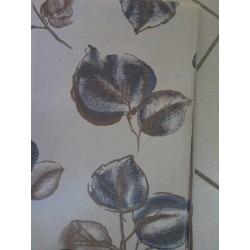 tissus au décimètre fond blanc fleur bleue