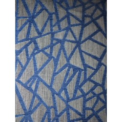 tissus au décimétre croisillon bleu