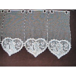 Brise-bise macramé 15mm motif coeur-tarine